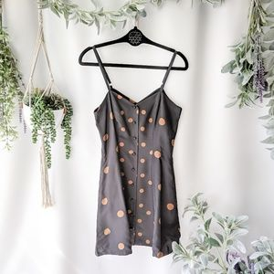 DOLCE VITA Silk 90s strappy polkadot dress 0323